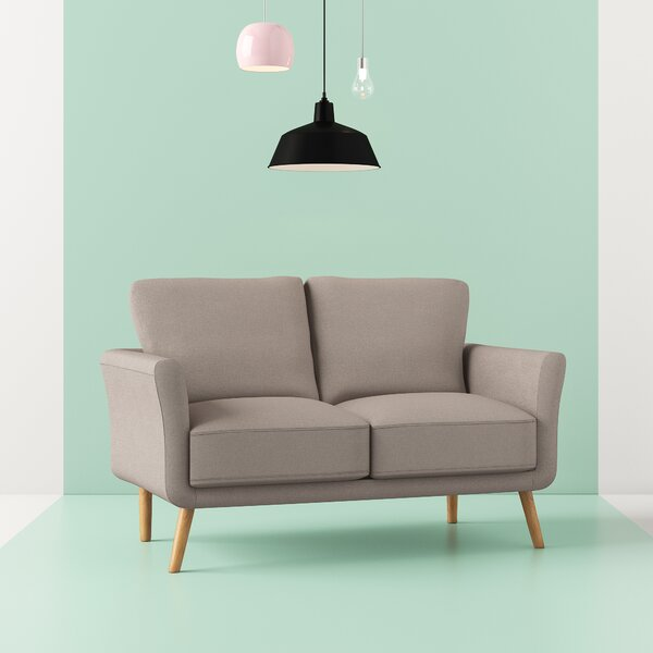 Duggins Modern Fabric Loveseat by Hashtag Home