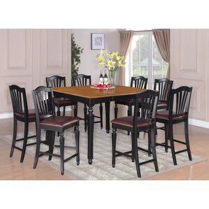 Ashworth 9 Piece Counter Height Pub Table Set by Darby Home Co