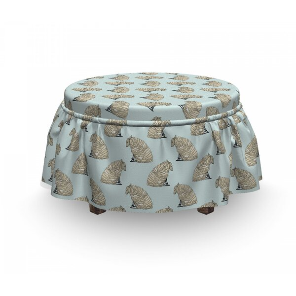 Fluffy Animal Characters Art Ottoman Slipcover (Set Of 2) By East Urban Home