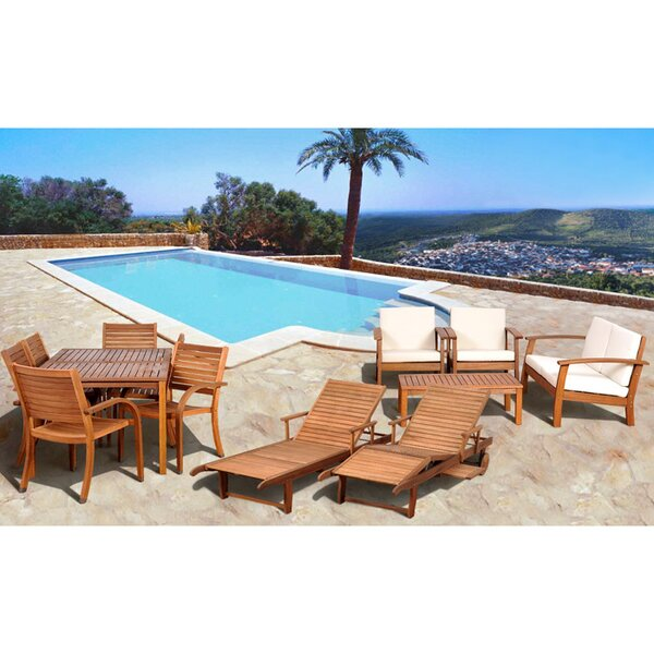 Frye 13 Piece Complete Patio Set with Cushions by Beachcrest Home