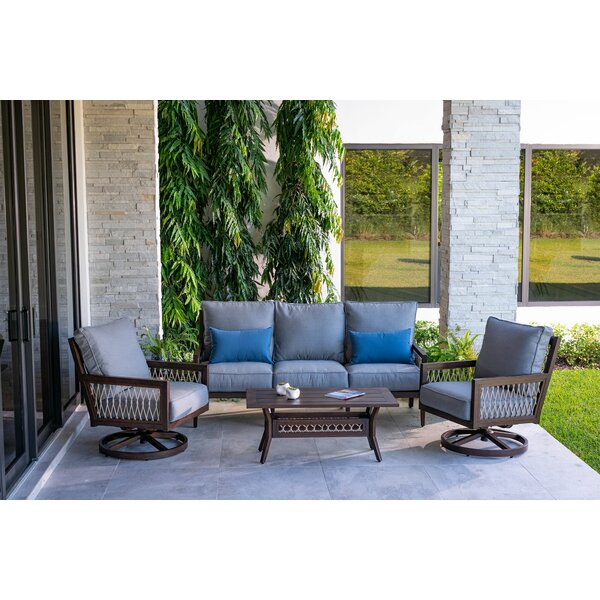 Echo Bay 5 Piece Deep Seating Group with Cushions by Eddie Bauer