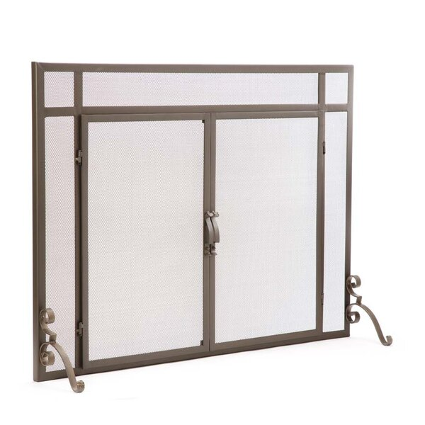 Single Panel Steel Fireplace Screen By Plow & Hearth