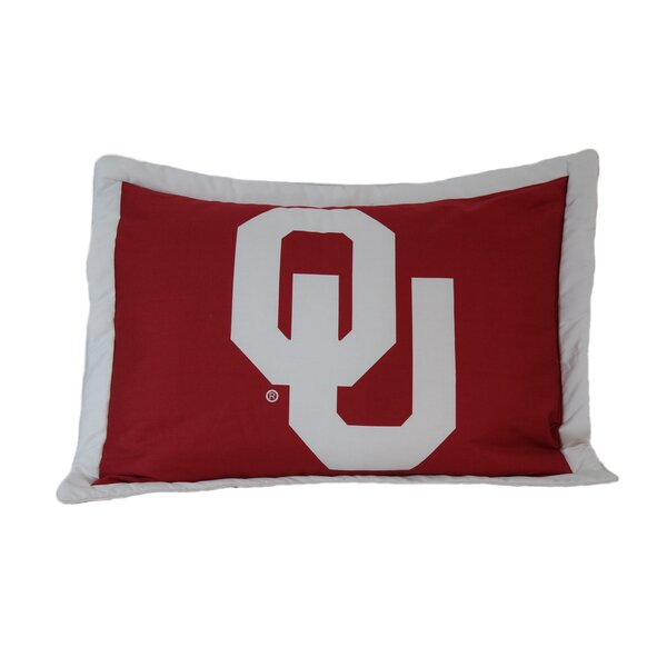 NCAA Oklahoma Pillow Sham by College Covers