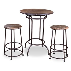 Velazquez 3 Piece Pub Table Set by Brayden Studio