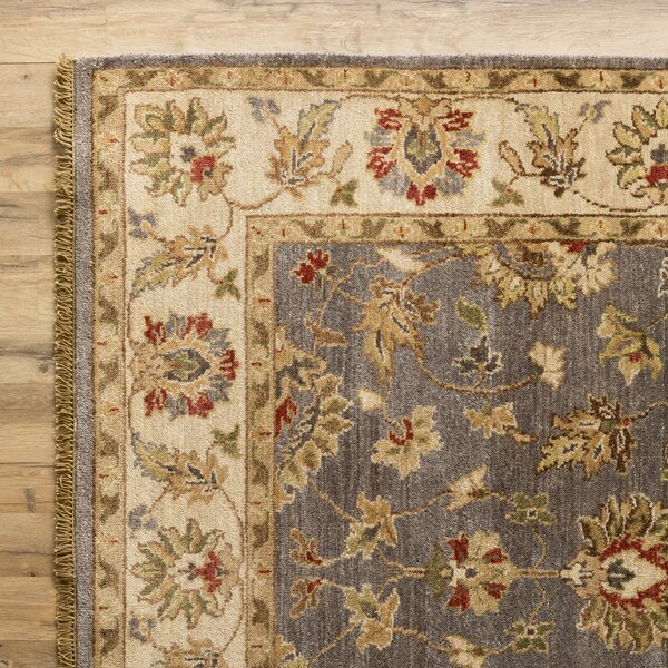 Savannah Hand-Woven Pewter Area Rug by Birch Lane™