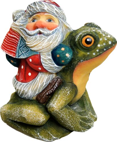 Fifield Santa on Frog Figurine Ornament by The Hol