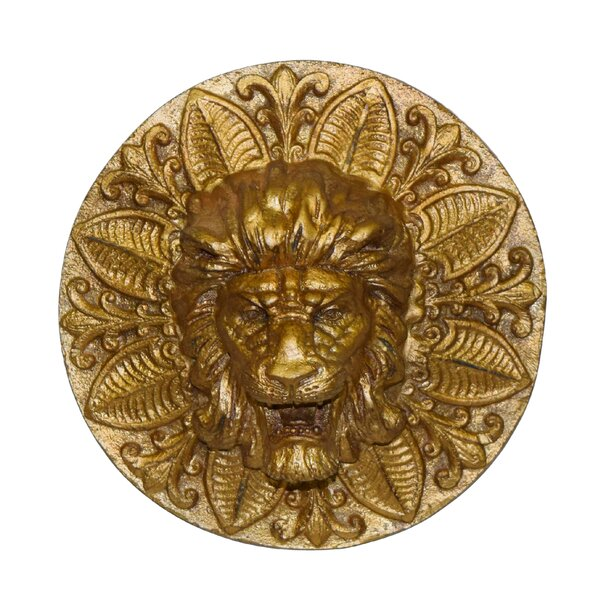 Round Lion Plaque Wall Décor by Hickory Manor House