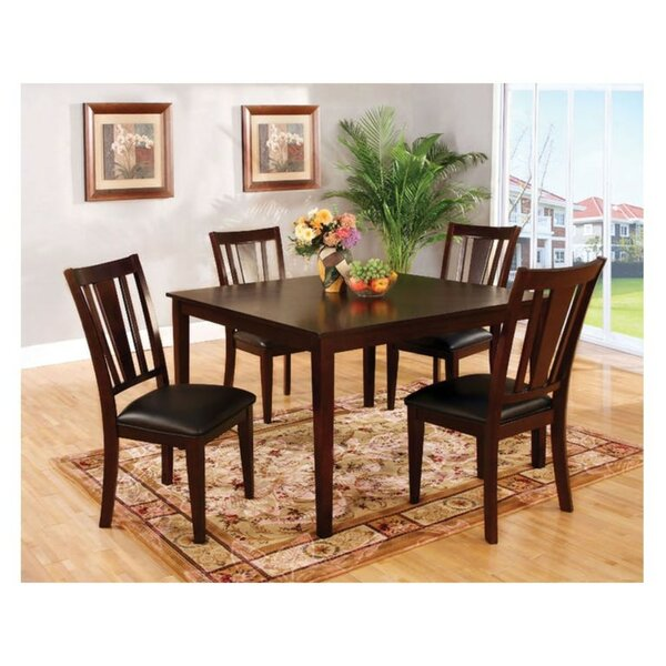 Moser Transitional Style 5 Piece Solid Wood Dining Set by Winston Porter Winston Porter