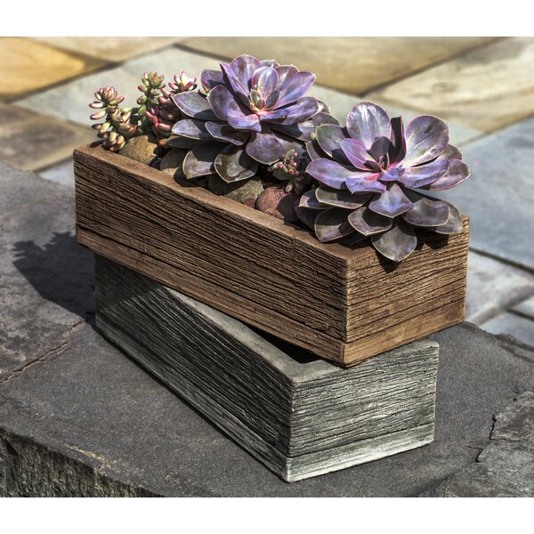Ravishankar Rectangular Cast Stone Planter Box by Union Rustic