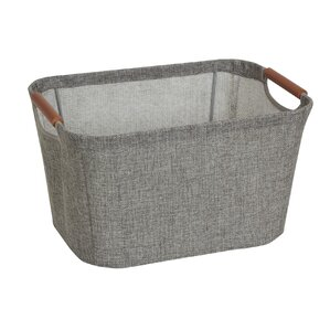 Tapered Storage Bin With Wood Handle