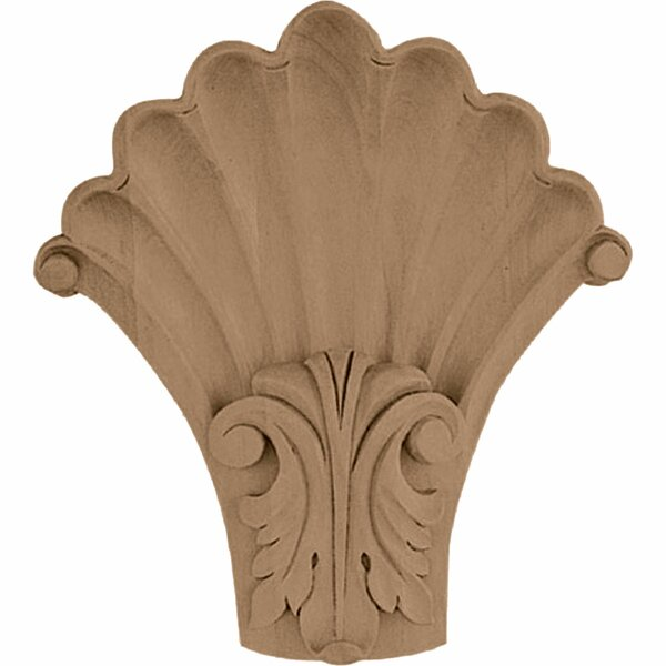 Acanthus 6 1/2H x 5 1/4W x 2D Medium Shell Corbel in Hard Maple by Ekena Millwork