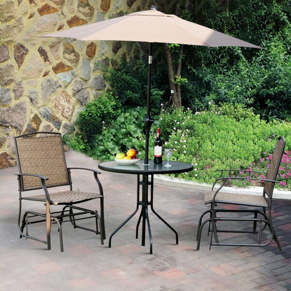 Latrell Patio Swing Rocking Chair (Set of 2) by Highland Dunes