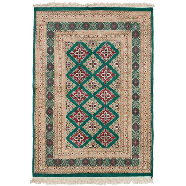 One-of-a-Kind Do Hand Knotted Wool Green Area Rug by Isabelline