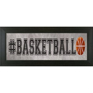 Basketball Framed Textual Art by Pictures and Mirrors