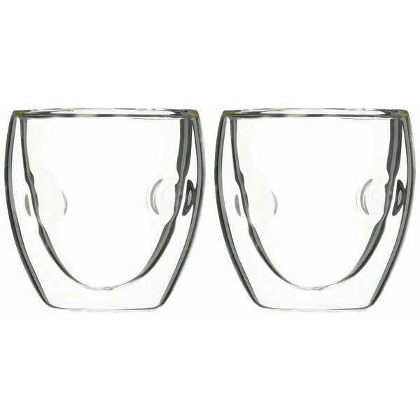 Moderna Artisan Series Double Wall 2 oz Insulated Beverage and Espresso Shot Glasses (Set of 2) by Ozeri