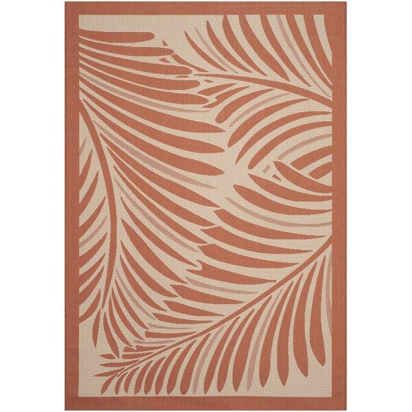 Tropic Palm Beige/Terracotta Area Rug by Martha Stewart Rugs