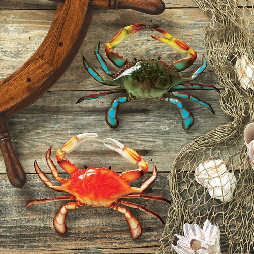 Tropical 2 Piece Crabs Wall