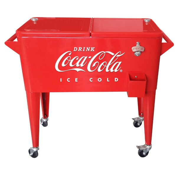 80 Can Coca-Cola Embossed Ice Cold Cooler by Leigh Country