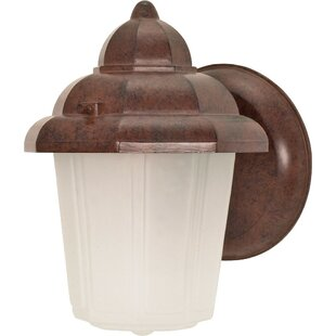 Bargain Cali Hood 1-Light Outdoor Sconce By Highland Dunes
