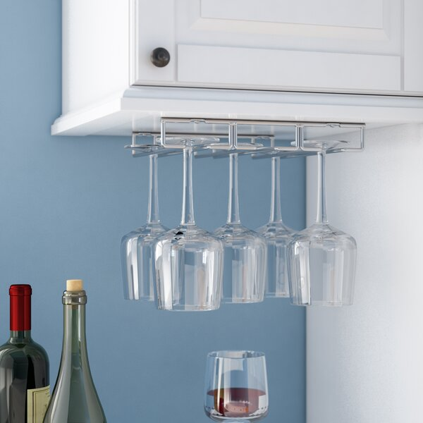 Under Hanging Wine Glass Rack by Rebrilliant