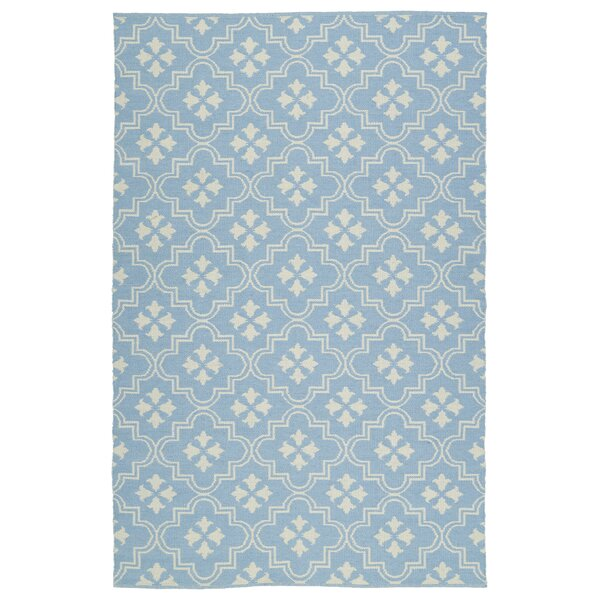 Covington Light Blue/Cream Indoor/Outdoor Area Rug by Charlton Home