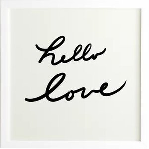 'Hello Love on White' Textual Art by Zipcode Design