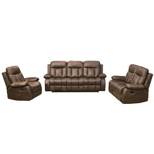Forsett 3 Piece Reclining Living Room Set by Red Barrel Studio®