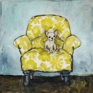 'Dog Allowed In' by Tori Campisi Painting Print on Wrapped Canvas by Marmont Hill