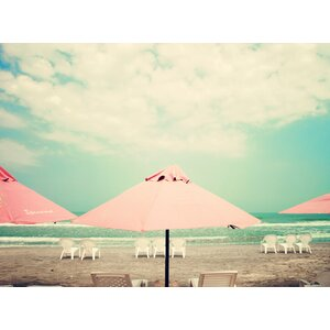'Retro Pastel Beach' Photographic Print by Highland Dunes