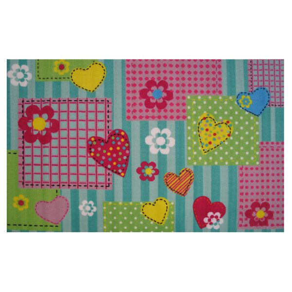 Fun Time Hearts and Flowers Area Rug by Fun Rugs