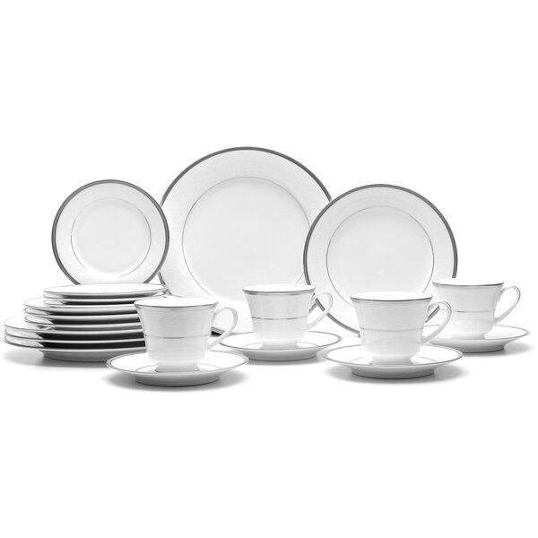 Regina Platinum 20 Piece Dinnerware Set, Service for 4 by Noritake
