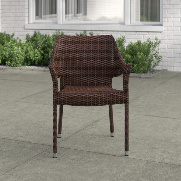 Bellamy Stacking Patio Dining Chair (Set of 4) by Zipcode Design