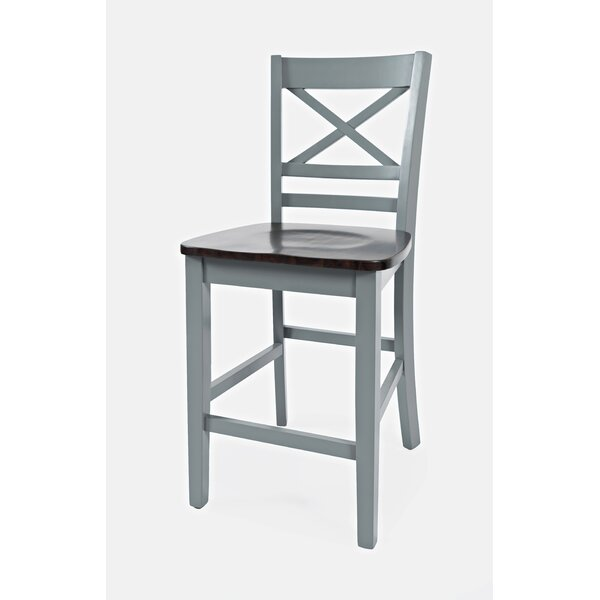 Jagger Solid Wood Dining Chair (Set of 2) by Breakwater Bay