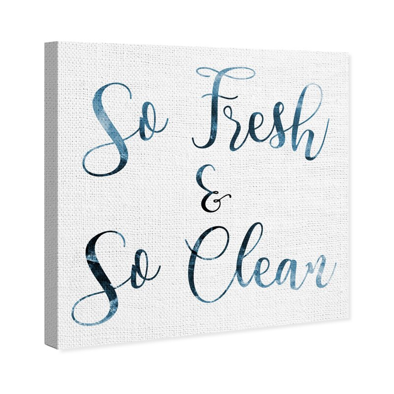 So Fresh And So Clean Clean Silver Foil Print Small Poster Bathroom Wall Art...