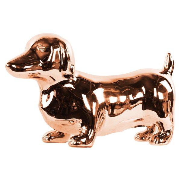 Abington Polished Standing Dachshund Dog Figurine by Charlton Home