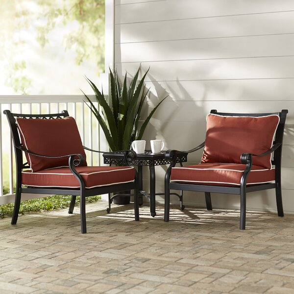Nadine 3 Piece Conversation Set with Cushions by Fleur De Lis Living