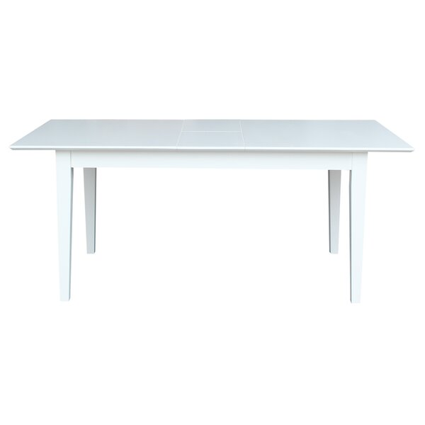 Luka Extension Solid Wood Dining Table by August Grove