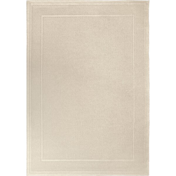 Acton Ivory Solid Indoor/Outdoor Area Rug by Three Posts