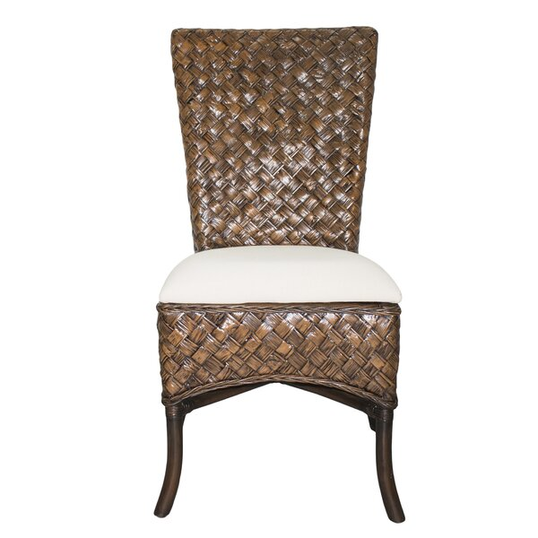 Upholstered Side Chair in Brown by Panama Jack Sunroom Panama Jack Sunroom
