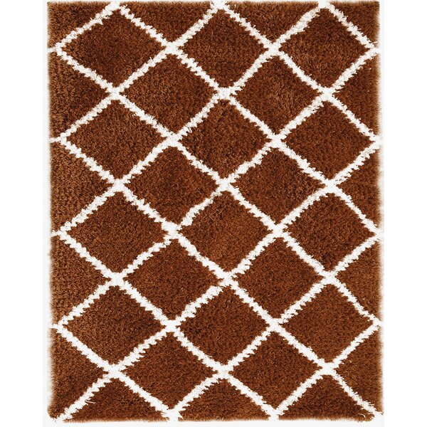 Hand-Woven Rust Area Rug by Affinity Linens