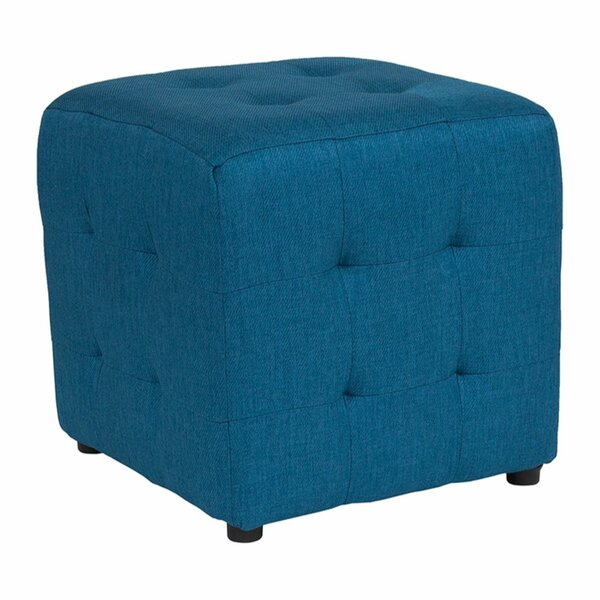 Wesley Tufted Cube Ottoman by Winston Porter