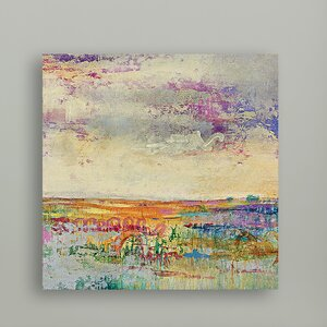 Wildflower Sunrise I Painting Print on Wrapped Canvas by Portfolio Canvas Decor