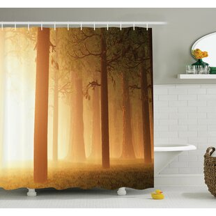 Foggy Hazy Woodland Shower Curtain Set
