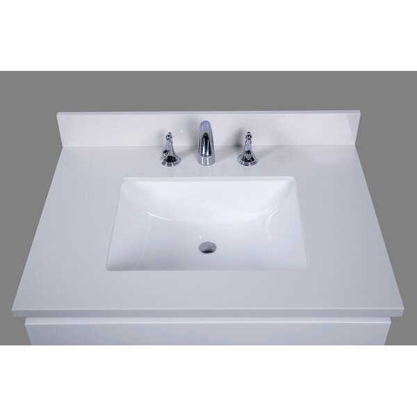 Thassos 31 Single Bathroom Vanity Top by Renaissan