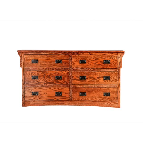 Aske 6 Drawer Double Dresser by Millwood Pines