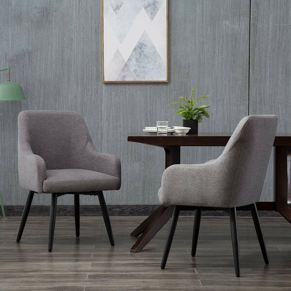 Samara Upholstered Dining Chair (Set of 2) by Wrought Studio