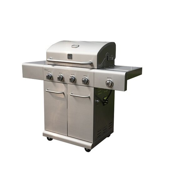 kenmore 6 burner gas grill. kenmore elite 5-burner liquid propane gas grill with side burner \u0026 reviews | wayfair 6
