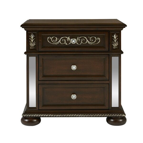 Aaden 3 Drawer Nightstand by Rosdorf Park