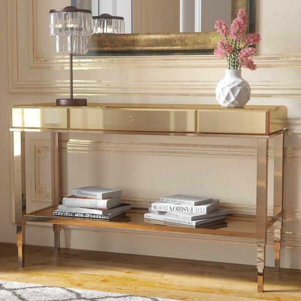 Calisto Mirrored Console Table by Willa Arlo Interiors