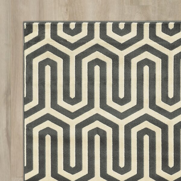 Hennings Ivory/Grey Area Rug by Langley Street